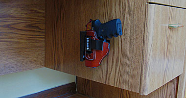 Wide Holster Rest- Desk Gun Mount