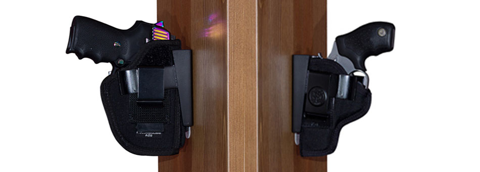 Wide Holster Rests-Bedside Gun Mount