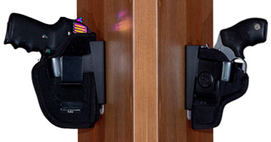 Wide Holster Rests - Nightstand Gun Mount